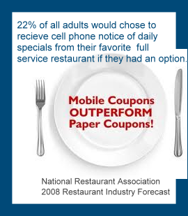mobile coupons Restaurants