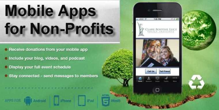showcase nonprofits Mobile Apps