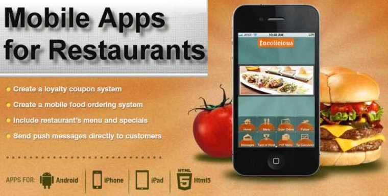 showcase restaurants Mobile Apps